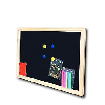 Dry Erase Magnetic Wooden Black Board, Chalk Board