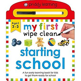 My First Wipe Clean Starting School (Priddy Learning) [Board book]