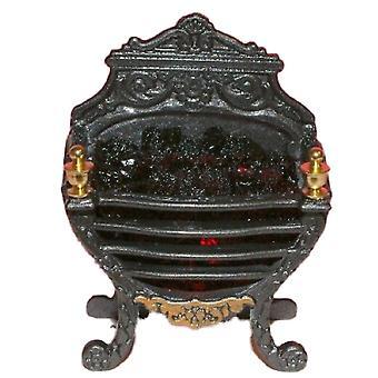 Nuket Talo Ornate Georgian Hehkuva Hiili tuli Miniatyyri Takka Lisävaruste 12v