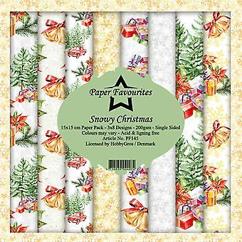 Papper Favoriter Snöiga julen 6x6 Tums Paper Pack