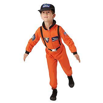 Drenge astronaut kostume orange