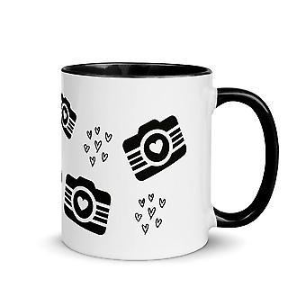 Photolover coffee mug with black inside