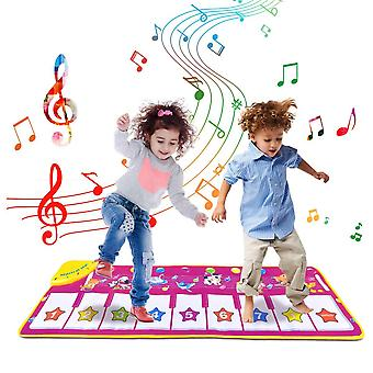Tyhbelle piano musical mats,touch play game dance music animal blanket carpet mat for boys girls bab
