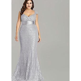 Elegant Mermaid Lace Sleeveless, Plus Size, Evening Gowns Dress's