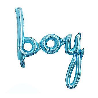 "Blue ""boy"" balloon banner - 83cm x 82cm"