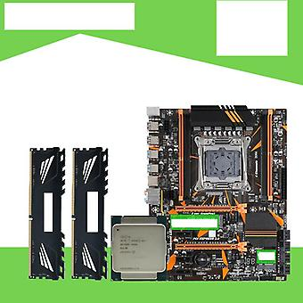 X99 D4 Motherboard Set With Xeon E5 2620 V3 Lga2011-3 Cpu 2pcs X 4gb =8gb