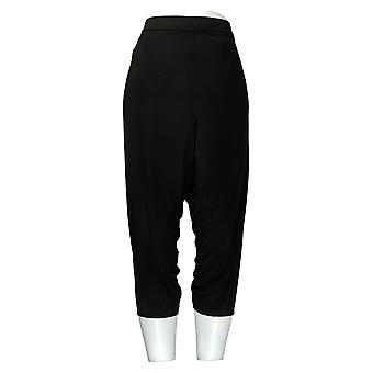 Everyday by Susan Graver Women's Petite Pants Liquid Knit Crop Black A306518
