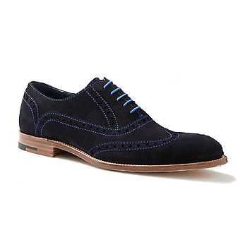 Barker Grant - Air Force Blue Suede - 9 | Mens Handmade Leather Brogue | Barker Shoes