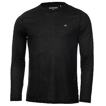 Calvin Klein Męski 2021 Różne długi rękaw 3 pack oddychający wicking t-shirt