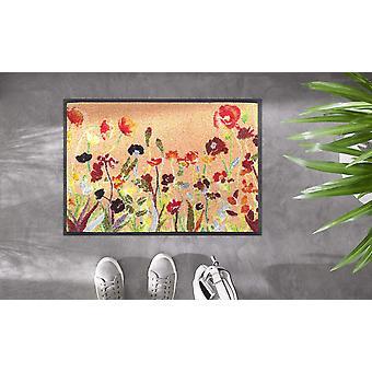 tvätt+torr golvmatta Vildblommor 50 x 75 cm tvättbar smutsmatta