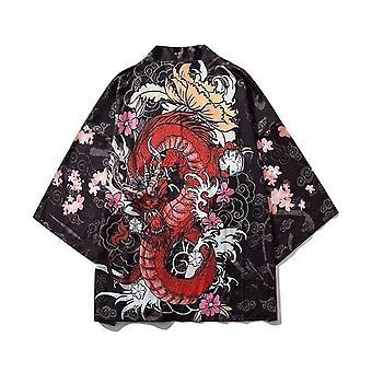 Neuletakki paita pusero Yukata Miehet Obi Vaatteet Samurai Vaatteet Mies Kimono