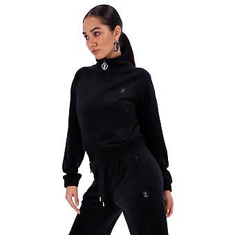 Juicy Couture Tanya Diamante Velours Track Top SS21 Zwart 69