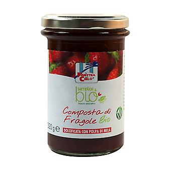 Simple & organic strawberry compote (with apple pulp) 320 g