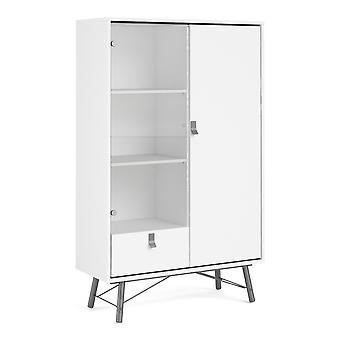 Effy China cabinet 1 door + 1 glass door + 1 drawer