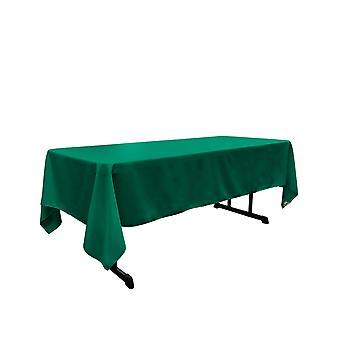 Mantel rectangular Poplin de poliéster de lino de 60 por 144 pulgadas, teal