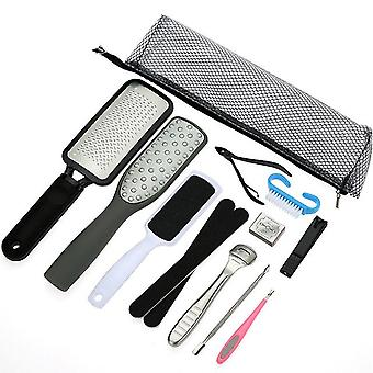 Professional pedicure tool set, nail clippers stainless steel foot care kit, dead skin remover pedicure kit