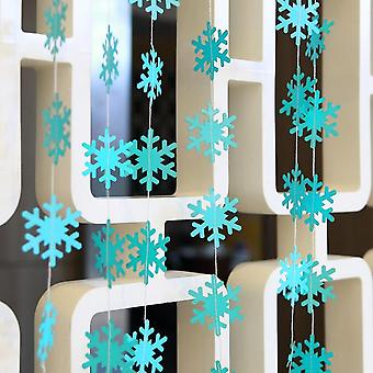 Snowflake/star/tree Shape Paper Garland Christmas Decoration For Home