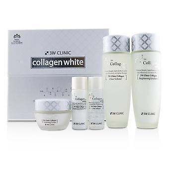 Sistema del cuidado de piel blanca de 3W Clínica colágeno: suavizante 150ml + Emulsión 150ml + Crema de 60ml + suavizante 30ml + Emulsión 30 ml 5pcs