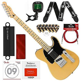 Fender player telecaster electric guitar - maple fingerboard - butterscotch blonde with fender play online lessons, tuner, and deluxe bundle