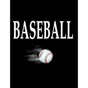 Baseball - 100 Pages 8.5 X 11 Notebook College Ruled Line Paper by Rwg