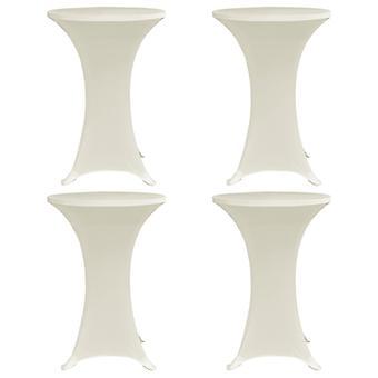 vidaXL Крышки для барных столов 4 шт. Ø 80 см Крем Стрейч