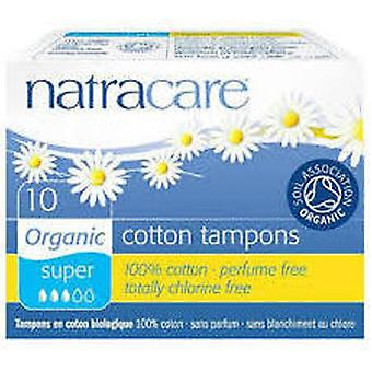 Natracare Organic Tampons Without Applicator Super 10 Units