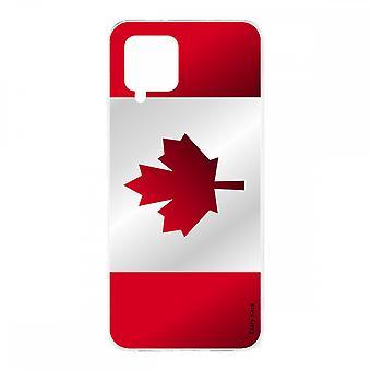 Scafo per Samsung Galaxy A42 5g Silicone Soft 1 Mm, bandiera canadese