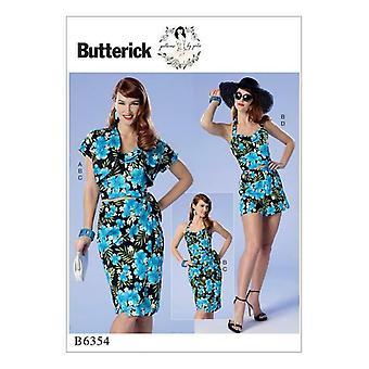 Butterick Sewing Pattern 6354 Misses Ladies Petite Bustier Shorts 14-22 Uncut