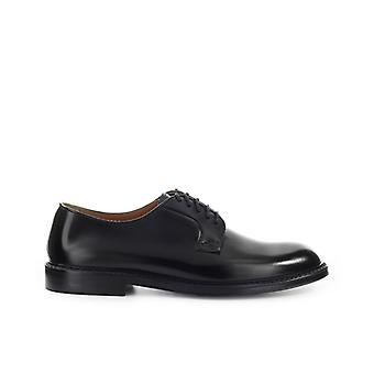 Doucal's Black Derby Lace Up