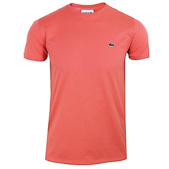 Lacoste men's pink pima cotton t-shirt
