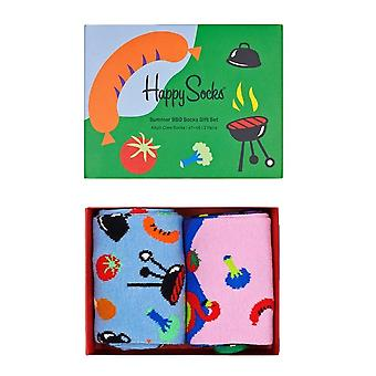 Happy Socks Summer BBQ Socks Gift Set 2 Pack