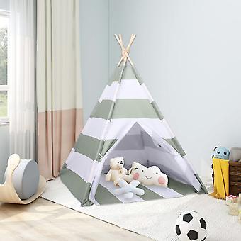 vidaXL kids teepee tent bag peach skin Striped 120x120x150 cm