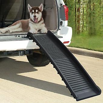 vidaXL الكلب المنحدر للطي الأسود 155,5x40x15,5 سم