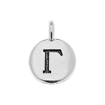 Loppumyynti - TierraCast Kreikkalainen aakkosten viehätys, Gamma-symboli 16,75x11,75mm, 1 kpl, Antiikki hopea päällystetty