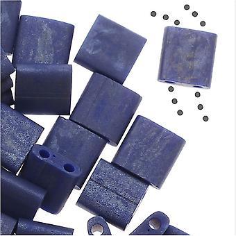 Miyuki Tila 2 отверстия Квадратные бусины 5 мм - Матовый кобальтовый синий 7,2 грамма