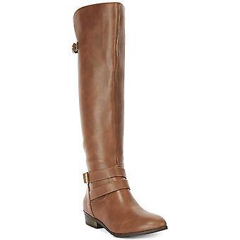 Material Girl Womens Carleigh Wide Calf Riding Boots Brown 9 Medium (B,M)