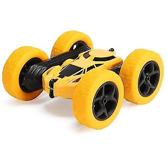 Yellow remote control double-sided tumbling and rotating four-wheel drive off-road car x2720