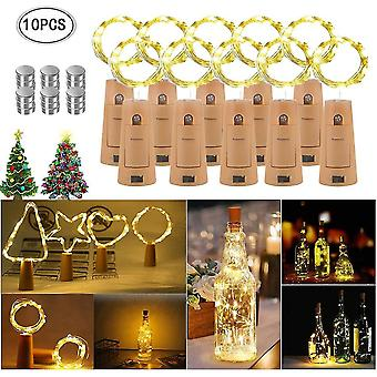10 Pieces 20 led 2m bottleslight warm white wine bottle light mood lights dt5927