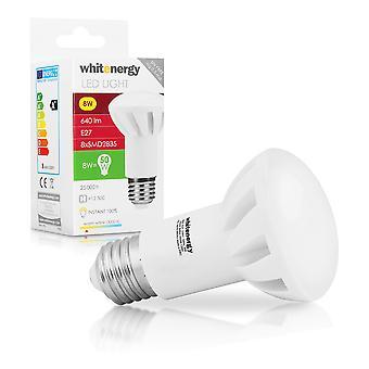 Whitenergy LED Bulb | 8X Smd 2835 LED | R63 | E27 | 8W| 230V | White Warm