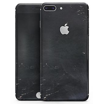 Black And Gold Scratched Woodgrain - Skin-kit For The Iphone 8 Or 8