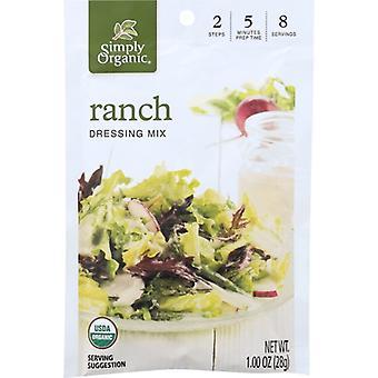 Simply Organic Mix Drssng Ranch Org, Case of 12 X 0.11 Oz