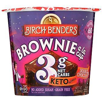 Birch Benders Baking Cup Dbl Chc Brwnie, Caso de 8 X 1.76 Oz