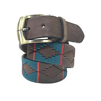Carlos Díaz cinturón de cuero marrón awo32901