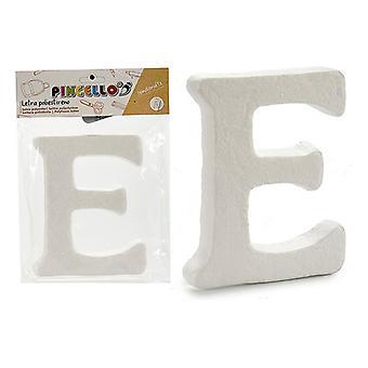 Letter E polystyrene