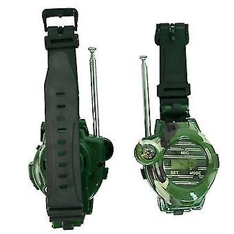 Camouflage military watch wireless walkie-talkie 7 in1 outdoor children's walkie-talkie toy 2pcs