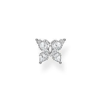 Thomas Sabo Charm Club Sølv Zirconia Hvid sommerfugl Single Ear Stud H2195-051-14