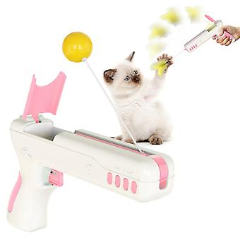 Funny Interactive Cat Toy With Feather&ball Original Cat Stick Gun For Kittens Puppies Small Dogs Pet Products For Dropshipping