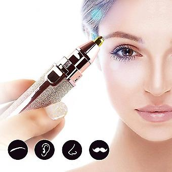 2 in 1 Electric Eyebrow Trimmer Lady Shaver Face Hair Remover Rechargeable Eyebrow Shaper Women