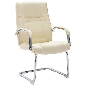 vidaXL كانتيلفر كرسي كرسي كرسي كريم الجلود الاصطناعية