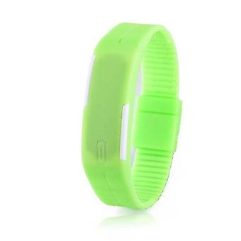 Rubber Strap, Led Digital Display Sports Wristwatch(Green)